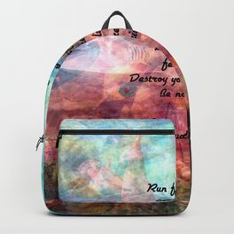 Challenging Fear Rumi Uplifting Quote With Beautiful Underwater Painting Backpack