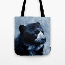 Black bear contemplating life Tote Bag