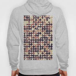 geometric square and circle pattern abstract in brown Hoody