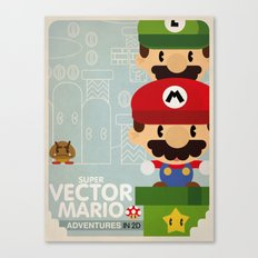 mario bros 2 fan art Canvas Print