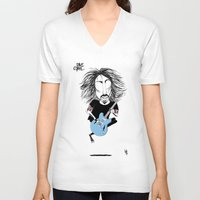 dave grohl V-neck T-shirts featuring Dave Grohl  by L O L A S O Y