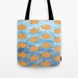 Cute Repeating Gold Fish Tote Bag