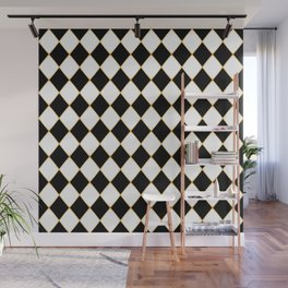 Chess board with golden threads Wall Mural