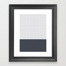 Grey Polka Framed Art Print