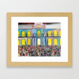 Cabildo abierto Framed Art Print