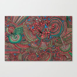 Drawing Meditation - Salmon Canvas Print