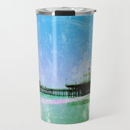 Blue Santa Monica Pier Travel Mug