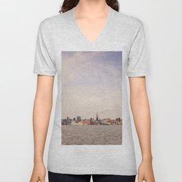New York City - Skyline Cityscape Unisex V-Neck