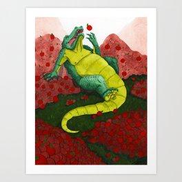 Allison's Alligator Art Print