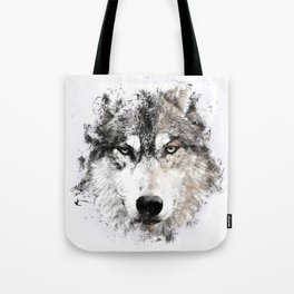 Wolf Face Painting Tote Bag