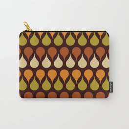Brown retro 60s color drop pattern Carry-All Pouch