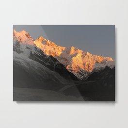 Sunrise On The World's Third Tallest Mountain Metal Print