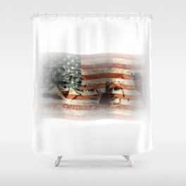 The Rise of a Nation Shower Curtain