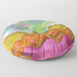 Autumn Mountain Peaks Floor Pillow