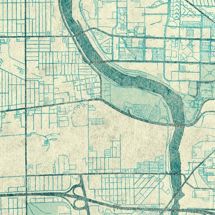 Indianapolis Map Blue Vintage Leggings
