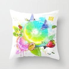 Acid Lima Throw Pillow