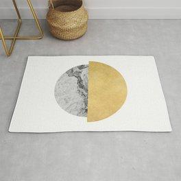 Sun and Moon, abstract, geometric, moon series 2 Rug