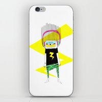 cassette iPhone & iPod Skins featuring Cassette by Alba Vilardebo