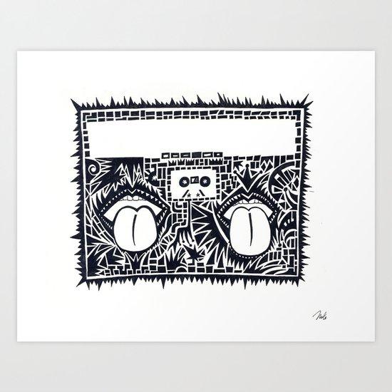 kaboom Art Print