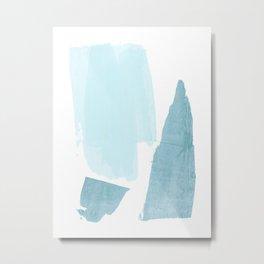 Blue on White Metal Print