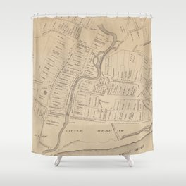 Vintage Map of Hartford CT  in 1640 (1890) Shower Curtain