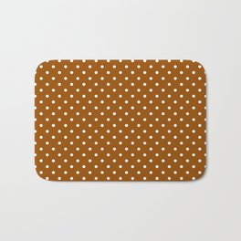 Dots (White/Brown) Bath Mat