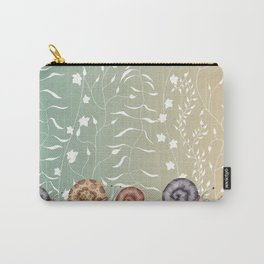 Snails in the Garden Floral  Carry-All Pouch