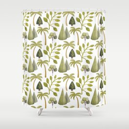 Watercolor Forrest Shower Curtain