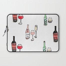 #DrinkWineDay Pattern Laptop Sleeve