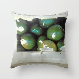 Lime Truck Throw Pillow