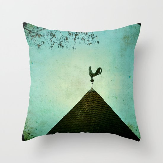 Colonial Rooster Throw Pillow