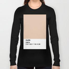 pantone, nude, CMYK colorblock Long Sleeve T-shirt
