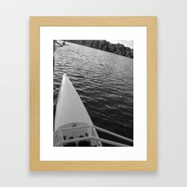 Row Framed Art Print