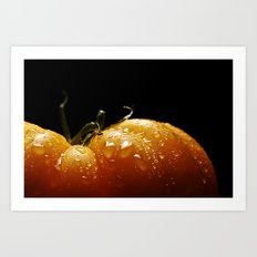 yellowed tomato Art Print