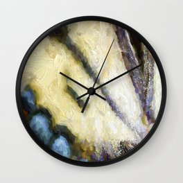 Butterfly Wings Abstract Wall Clock