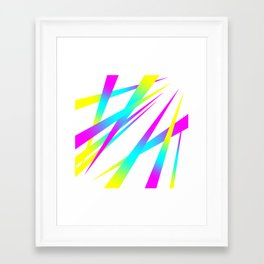 Spikes CYMK (white) Framed Art Print
