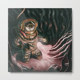Deep Sea Diver Metal Print