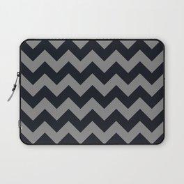 Chevrons Gray & Black Laptop Sleeve