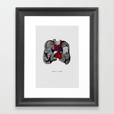 Heart&Lungs Framed Art Print