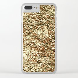 Gold crease Clear iPhone Case