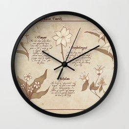 Flowers and Herbs of LOTR Wall Clock