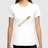 cigarette T-shirts featuring Cigarette. by Brian Grey