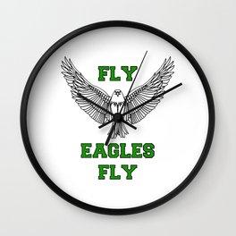 fly eagles fly philadelphia Wall Clock