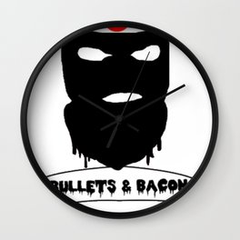 Bullets & Bacon Wall Clock