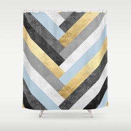 Golden bands VI Shower Curtain