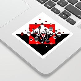 MICROGRAVITY - RED & BLACK Sticker