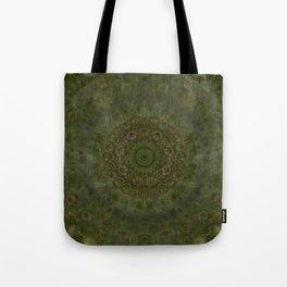 """Autumn mandala"" (Green-Grey Pattern) Tote Bag"