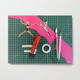 tools cut and paste Metal Print