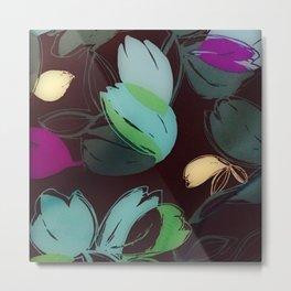 Satin Floral 2 Metal Print