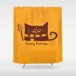 Furry Potter  Shower Curtain